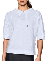 Under Armour Favorite Mesh Hooded Sweatshirt White