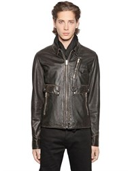 The Kooples Vintage Effect Leather Jacket