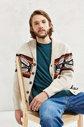 Pendleton Short Sands Cardigan Tan