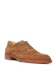 Donald J Pliner Suede Oxford Shoes Camel