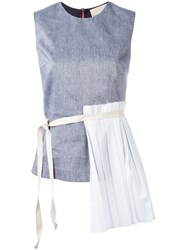 Erika Cavallini Pleated Layered Tank White