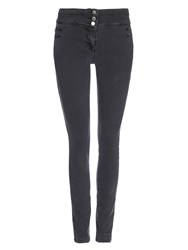 Wallis Grey Military Skinny Jean
