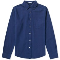 Gant Rugger Indigo Oxford Shirt Blue