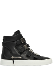 D S De Perforated Leather High Top Sneakers Black