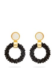 Lizzie Fortunato Brancusi Hoop Earrings Black