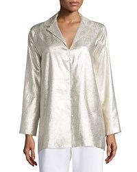 Shamask Long Sleeve Metallic Tunic Gold Women's