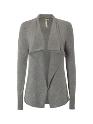 White Stuff Flighty Waterfall Cardi Grey