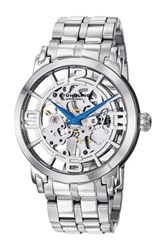 Stuhrling Men's Winchester 44 Elite Skeleton Dial Watch Metallic
