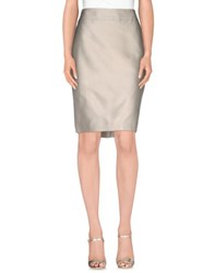 Armani Collezioni Skirts Knee Length Skirts Women Beige