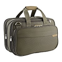 Briggs And Riley Baseline Double Expandable Tote Olive