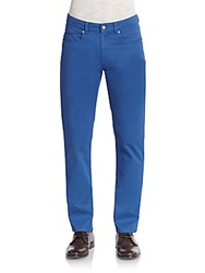 Saks Fifth Avenue Five Pocket Cotton Chinos True Blue
