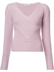 Tome Crossover Sweater Pink Purple