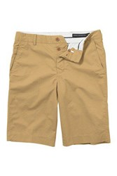 French Connection Men's Lightweight Cotton Cargo Shorts Camel