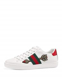 Gucci Flat New Ace Sneaker White