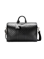 Gucci Signature Leather Duffle Bag Leather Nylon Metal Microfibre Black