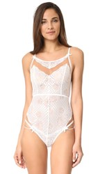 For Love And Lemons Daffodil Lace Bodysuit White