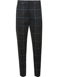 Alexander Wang Checked Cropped Trousers Grey