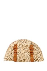 San Diego Hat Company Woven Seagrass Dome Clutch Beige