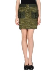 Tomaso Mini Skirts Military Green