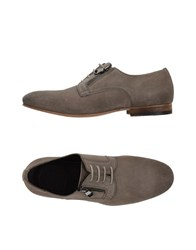 Pawelk's Lace Up Shoes Light Grey