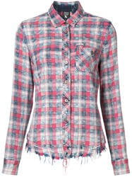 Prps Checked Shirt Women Cotton Rayon Xs Red