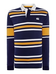 Canterbury Of New Zealand L S Stripe Rugby Navy