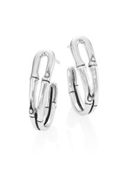 John Hardy Bamboo Small Sterling Silver Hoop Earrings 1