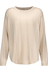 Brunello Cucinelli Beaded Cashmere Sweater Cream