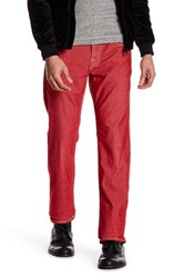 True Religion Corduroy Straight Pant With Flap Pockets Red