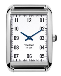 Tom Ford 44Mm Brushed Stainless Steel Watch Head Silver