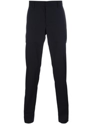 Lanvin Tailored Slim Fit Trousers Blue