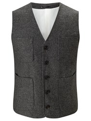 John Lewis And Co. Collarless Waistcoat Charcoal