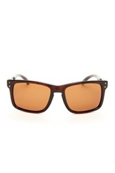 Polaroid Women's Wayfarer Plastic Sunglasses Brown