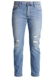Teddy Smith Dude Straight Leg Jeans Blue Denim