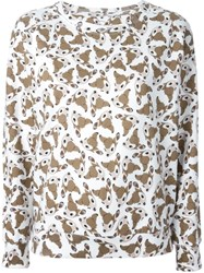 Eleven Paris All Over Bambi Print Sweatshirt White