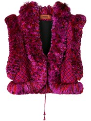 Missoni Cropped Embroidered Gilet Multicolour