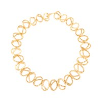 Joanna Laura Constantine Gold Plated Knot Choker Necklace