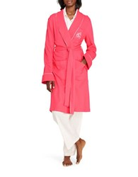 Lauren Ralph Lauren The Hartford Robe With Quilted Collar And Cuffs Bright Coral