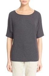 Women's Vince Dolman Sleeve Knit Tee Heather Black