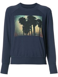 Nsf Palm Tree Print Sweatshirt Blue