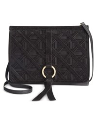 Nanette Lepore Leather Crossbody Clutch Black