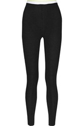 Alexander Wang T By Ribbed Knit Leggings Black