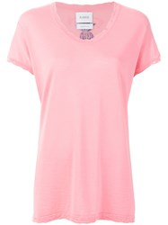 Barrie V Neck T Shirt Pink And Purple