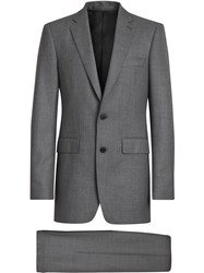 Burberry Slim Fit Wool Suit Grey