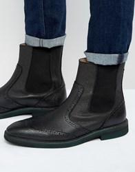 Selected Homme Dwight Leather Chelsea Boots Black