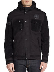 Affliction Free Run Corduroy And Twill Jacket Black