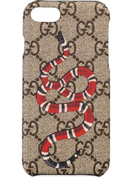Gucci Kingsnake Print Iphone 8 Case Nude And Neutrals