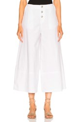 See By Chloe Wide Leg Crop Trouser In White