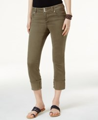 Inc International Concepts Cuffed Skinny Jeans Only At Macy's Olive Drab