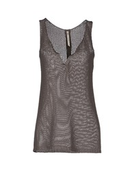 Almeria Sleeveless Sweaters Dove Grey